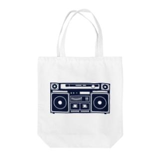 ラジカセのイメージ Tote bags