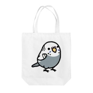Chubby Bird セキセイインコ グレー 女の子 Tote bags