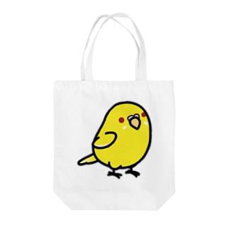 Chubby Bird セキセイインコ ルチノー Tote bags