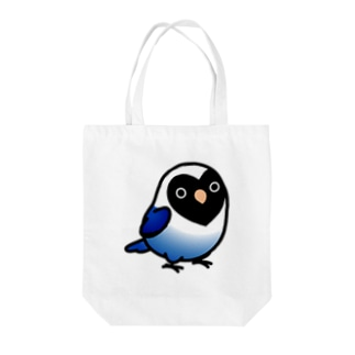 Cody the LovebirdのChubby Bird ボタンインコ Tote bags