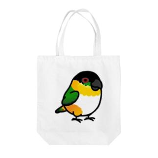 Chubby Bird ズグロシロハラインコ Tote bags