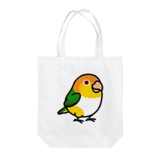 Chubby Bird シロハラインコ Tote bags