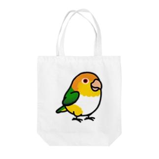 Cody the LovebirdのChubby Bird シロハラインコ Tote bags