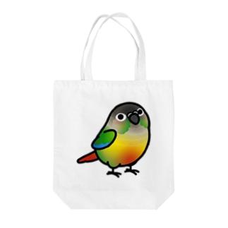 Cody the LovebirdのChubby Bird ウロコインコ Tote bags