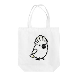 Chubby Bird タイハクオウム Tote bags