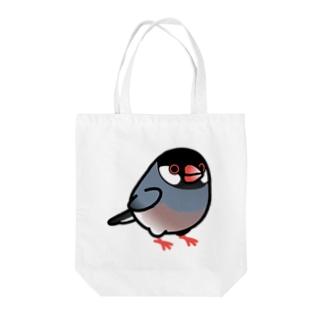 Chubby Bird 桜文鳥 Tote bags
