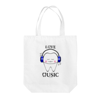 Tooth Music Blue Tote bags