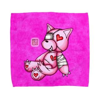 """❀花狐庵❀ """"Heart♡Wolf!!"""" Towel handkerchiefs"""