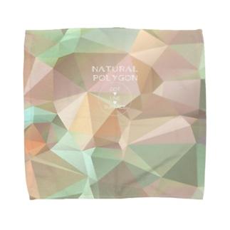 自然のポリゴン Towel handkerchiefs