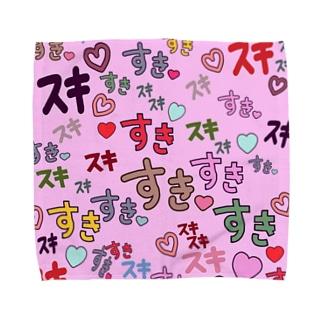 すきスキすき(ピンク) Towel handkerchiefs