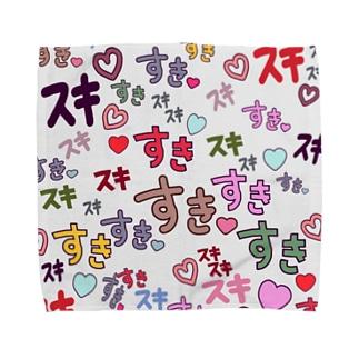 すきスキすき(グレー)  Towel handkerchiefs