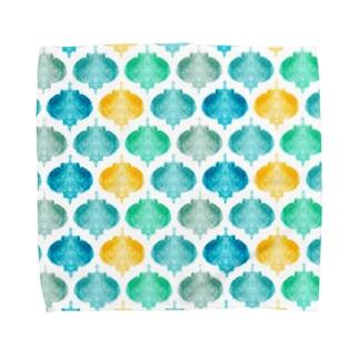 モロッコタイル風アート Towel handkerchiefs