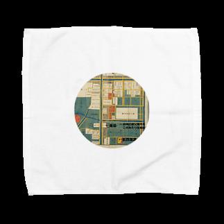 メディア木龍・谷崎潤一郎研究のつぶやきグッズのお店の本所深川絵図 Towel handkerchiefs