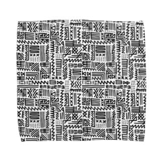 手書きトライバル柄 Towel handkerchiefs