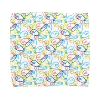 マヨランダムスタンプ Towel handkerchiefs