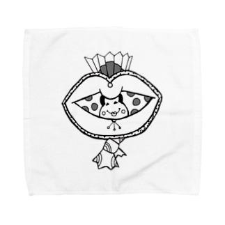 水玉オカメ Towel handkerchiefs