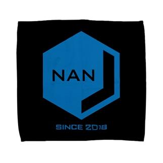 NANJCOIN公式ロゴ入り(黒背景) タオルハンカチ