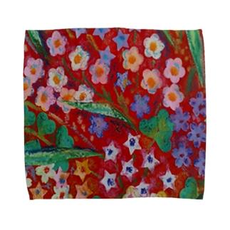 花-赤 Towel handkerchiefs