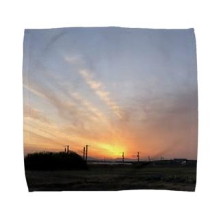 のびた夕焼け雲 Towel handkerchiefs