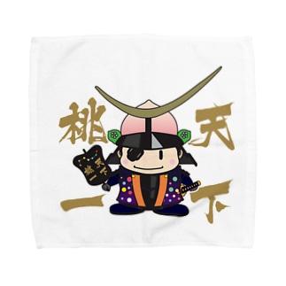天下桃一 from ふくしま Towel handkerchiefs