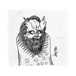 JUNSEN(純仙)唐獅子 平成の夜風を浴びて 単色 Towel handkerchiefs
