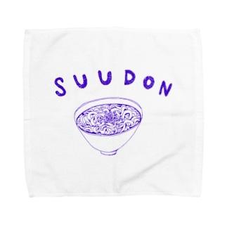 グルメデザイン「素うどん」 Towel handkerchiefs