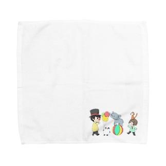 だぁ兄withりさ丸 Towel handkerchiefs