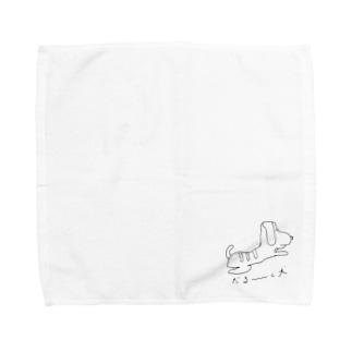 だる〜〜〜い犬 Towel handkerchiefs