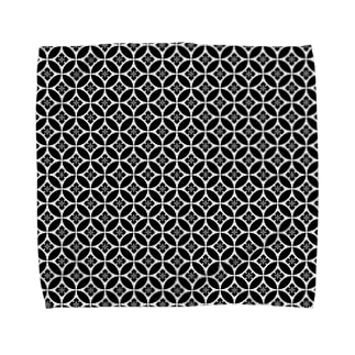 Black&White(和風柄) Towel handkerchiefs