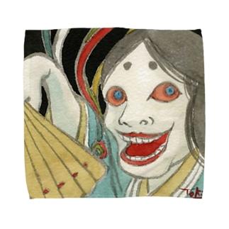 時実月夜様作「青女房」 Towel handkerchiefs