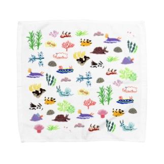 うみうしとなかまたち Towel handkerchiefs