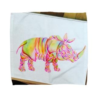 色犀 タオルハンカチ