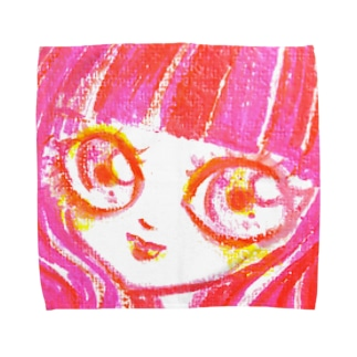 Red girl タオルハンカチ