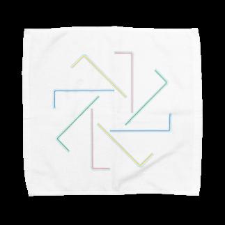 うさぎちゃんアイランドのストロー Towel handkerchiefs
