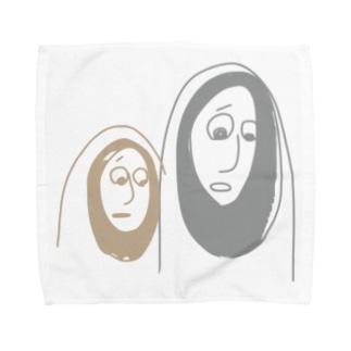 かわいそうなものを見るふたり Towel handkerchiefs