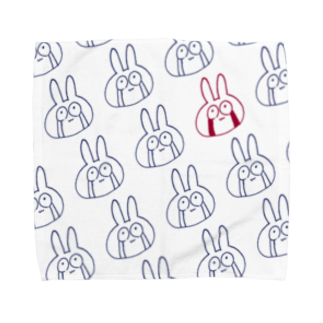 月河ナイのめっちゃ泣くやんこのうさぎB Towel handkerchiefs