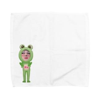 Na ちゃんカエルバージョン Towel handkerchiefs