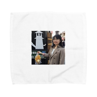 川越で遊ぶ重軒みすず Towel handkerchiefs