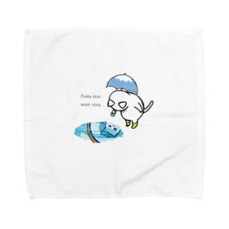 【猫郎雑貨店】雨の日の猫郎 Towel handkerchiefs
