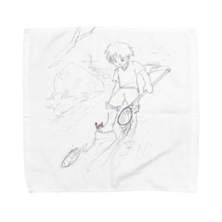 川遊び Towel handkerchiefs