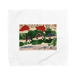 カメ戦車〜南北砂漠の旅〜 Towel handkerchiefs