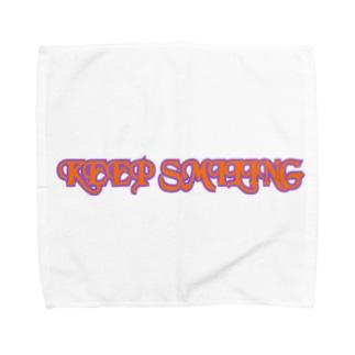 KEEP SMILING Towel handkerchiefs