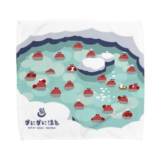 カニカニ温泉【Lサイズ専用】 タオルハンカチ