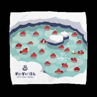 wakai_manamiのカニカニ温泉【Lサイズ専用】 Towel handkerchiefs