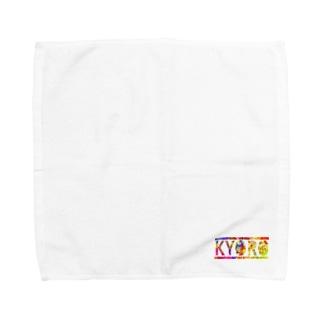 キョロブランケット/ハンカチ(レインボー) Towel handkerchiefs