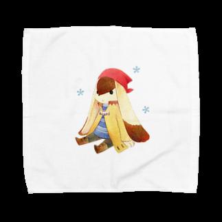 Tea Drop Sのおすわり Towel handkerchiefs
