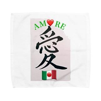 🇮🇹Amore/🇯🇵愛 Towel handkerchiefs