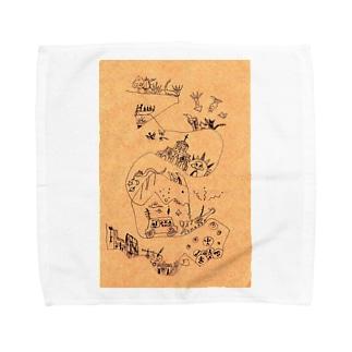 頭の中のストライプ Towel handkerchiefs