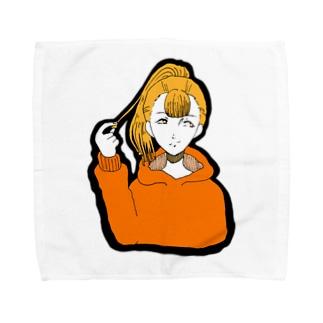 ポニテ Towel handkerchiefs