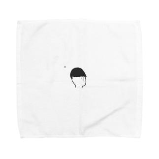 かわいいおじさん Towel handkerchiefs